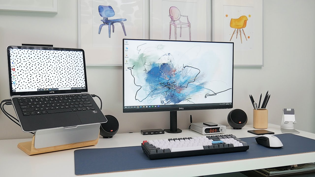 MODERN ECLECTIC Home Office Tour | Work From Home Productivity Desk Setup