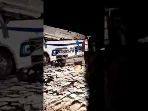 Съемки с места страшной аварий автобуса сретенск-чита