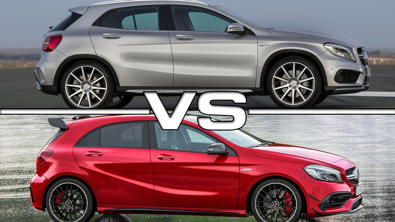 Mercedes Gla 45 Amg Vs Mercedes Amg A 45 Youtube