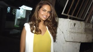 Hot Esha Gupta Spotted Outside Spa Salon In Mumbai