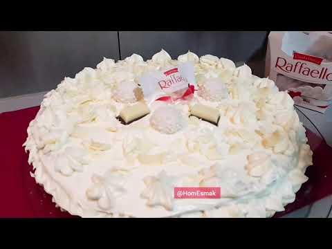 recette-gâteau-raffaello-❤-au-chocolat-blanc-et-sa-crème-onctueuse-✅