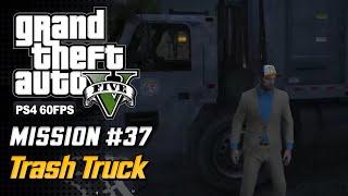 【GTA 5 100%】 Mission 35 - Trash Truck - Walkthrough Part 72 [GOLD MEDAL]