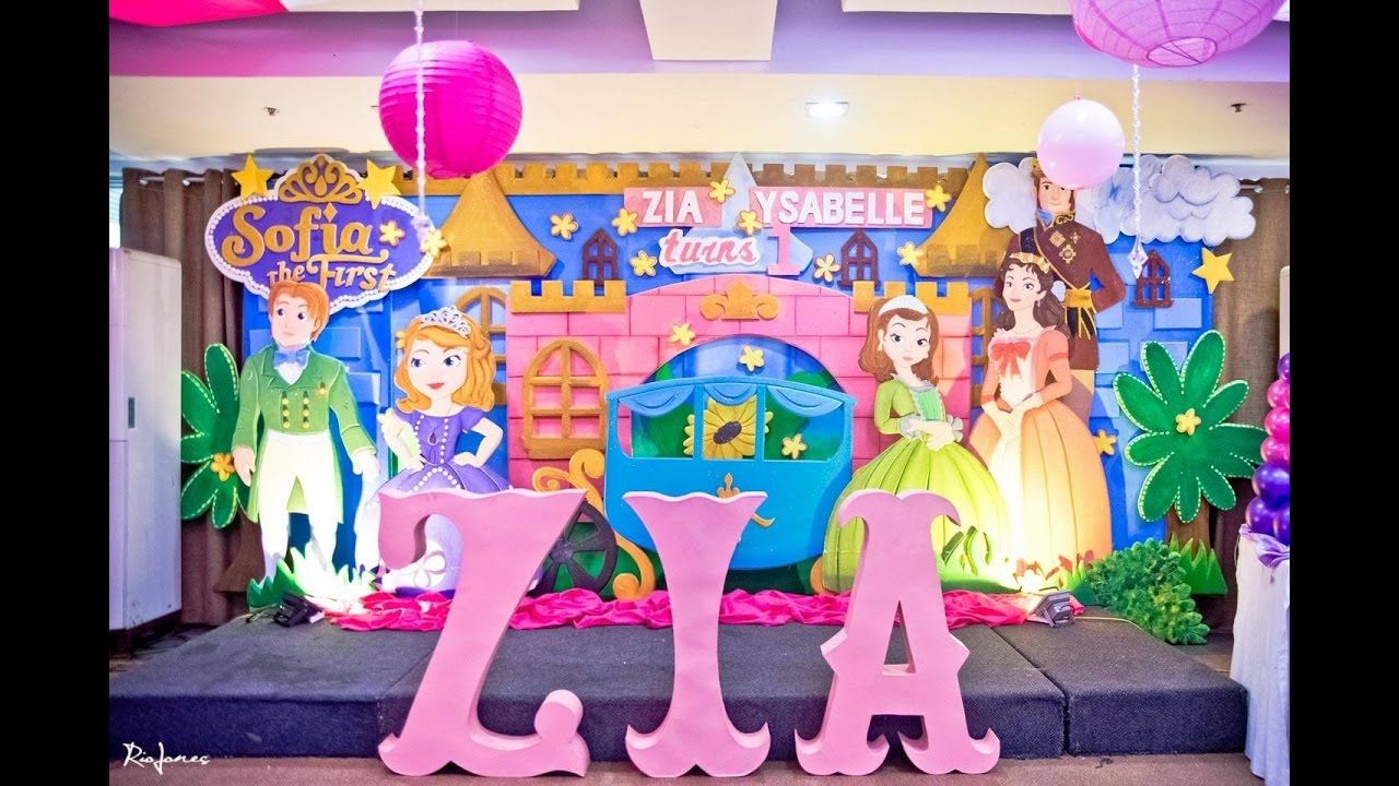 Zia Ysabelle S Sofia The First 1st Birthday At Prestige Tower Youtube