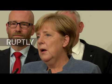 Thumbnail: Germany: 'We expected a better result' - Merkel reacts to a mixed night