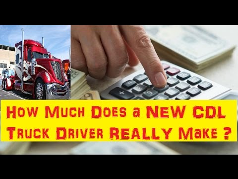How Much Does New Cdl Truck Driver Make Weekly Or Monthly