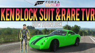Forza Horizon 4 - How To Get NEW Ken Block Suit! + Rare TVR *Exclusive Car*