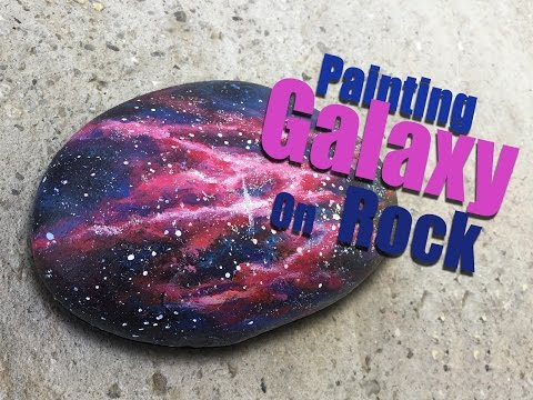 Let's Paint | Painting Galaxy On Rock | Rockpainting | Timelapse Art