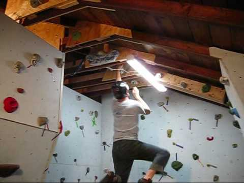 Building a Rock Climbing Wall in the Garage Part 2 Wall