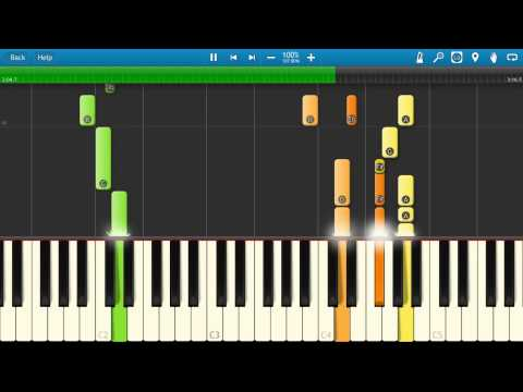 ABBA - Thank You For The Music Piano Tutorial - Synthesia - How To Play