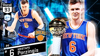 DIAMOND KRISTAPS PORZINGIS GAMEPLAY! BEST CARD IN THE GAME?!? NBA 2K17 MYTEAM