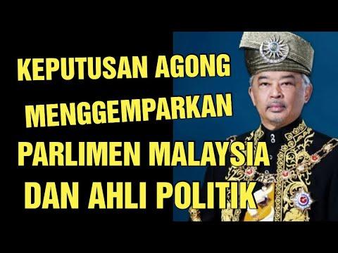 AKHIRNYA KEPUTUSAN AGONG MENGGEMPARKAN AHLI POLITIK MALAYSIA