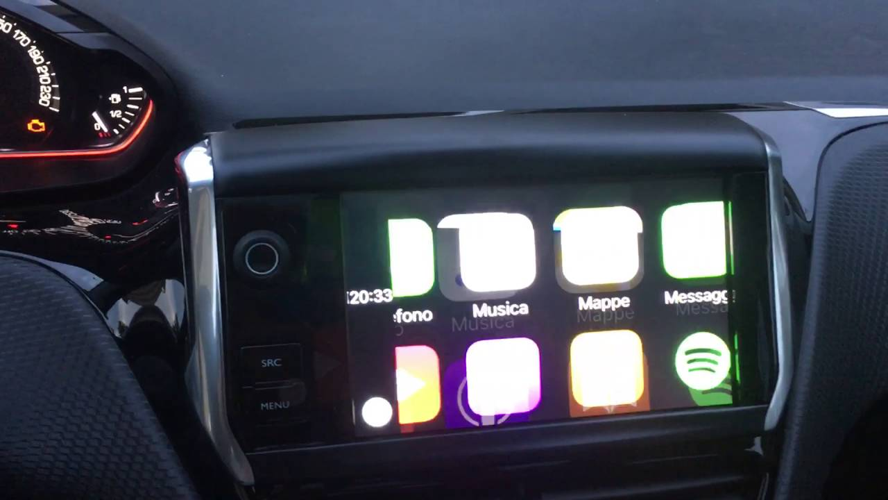 come connettere apple carplay a peugeot 208 2008 youtube. Black Bedroom Furniture Sets. Home Design Ideas