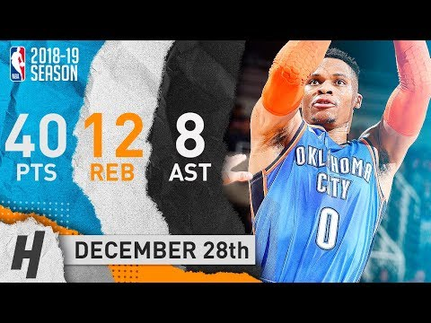 Russell Westbrook GOES OFF in Phoenix! CRAZY Highlights vs Suns 2018.12.28 - 40 Pts, 12 Reb, 8 Ast