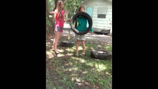 Diy Summer Tire Swing (unicorn Vs. Lamma)