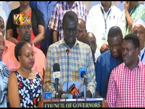 Kwale governor Mvurya elected as the new CoG chairman