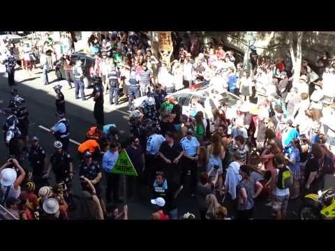 Bikie harassed by police @ March in March