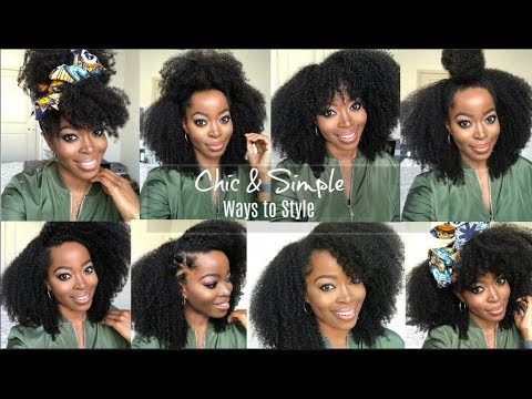 Chic And Simple Hairstyles For Kinky Curly Wigs How To Install Hergivenhair Protective Style