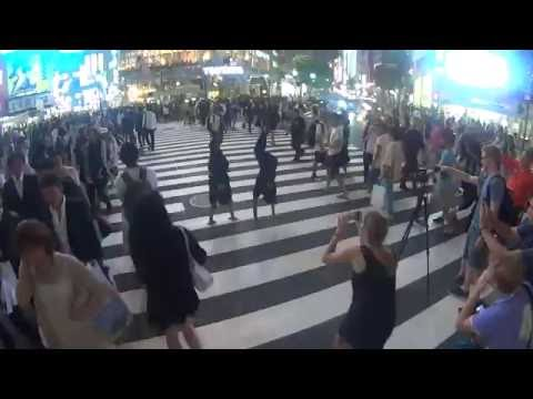 "Cirque De Soleil ""Varekai"" Promo Photo Shoot On Shibuya Crossing, Tokyo, Japan. Part 02"
