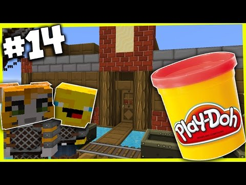 Minecraft - TIME TRAVELLERS! - STAMPY EATS PLAY-DOH! #14 W/Stampy & Ash!