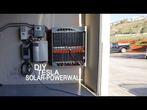 33kWh DIY SOLAR TESLA POWERWALL