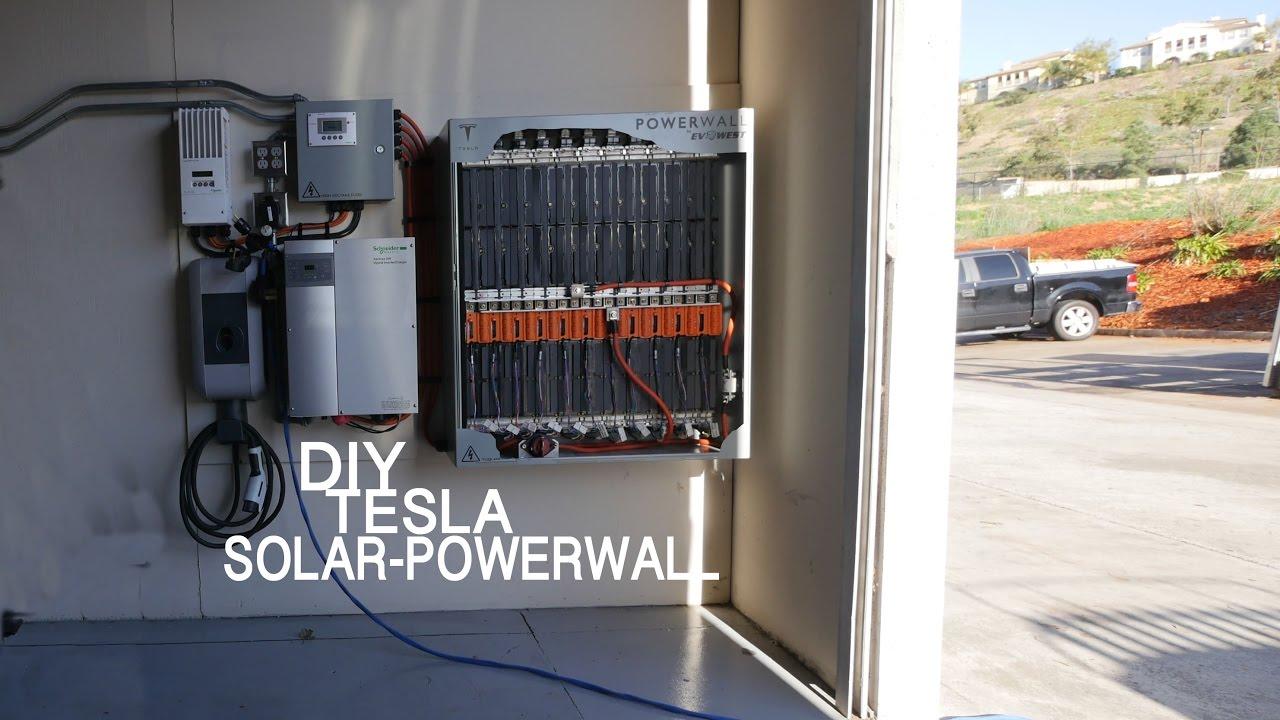 33kwh Diy Solar Tesla Powerwall Youtube Charging System Wiring Diagram