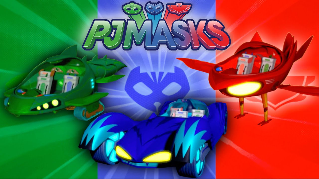 let s play pj masks vehicle challenge game youtube