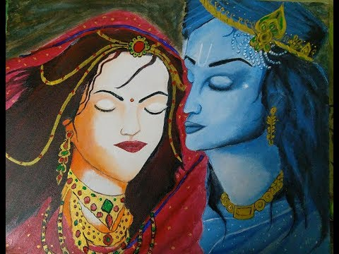RADHA KRISHNA PAINTING, HAIL ART
