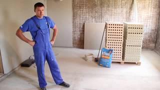 Пазогребневые плиты  Монтаж перегородок из ПГП