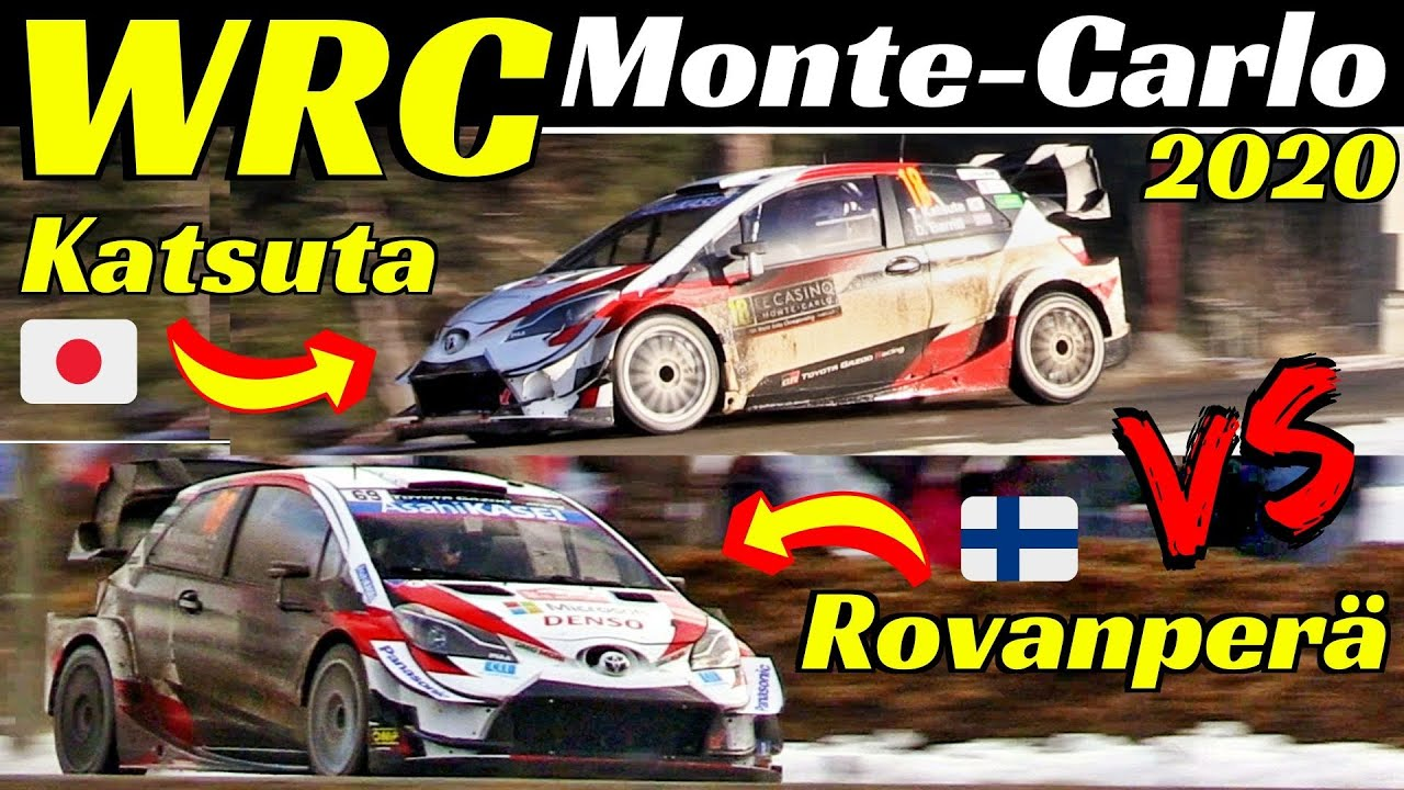 WRC Rallye Monte-Carlo 2020 - Kalle Rovanperä Vs Takamoto Katsuta -Comparison, Flatout & Max Att