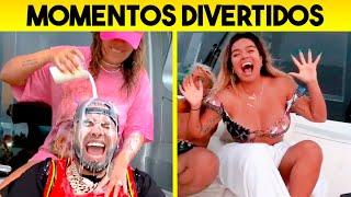 ANUEL AA Y KAROL G - MOMENTOS DIVERTIDOS 2020 | Ay Dios Mio