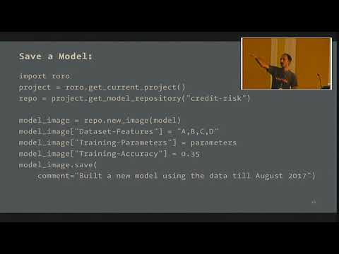 PYCON UK 2017: Managing Machine Learning Models in Production