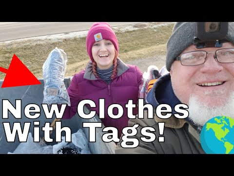 Biggest Clothing Haul Ever! Found in a Dumpster
