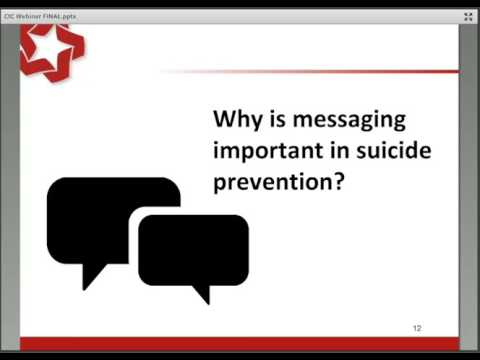 Developing Successful and Positive Suicide Prevention Messaging – Planning Ahead for Suicide Prevent