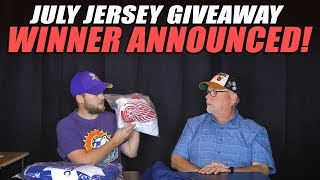 July Jersey Giveaway Winner Announced!