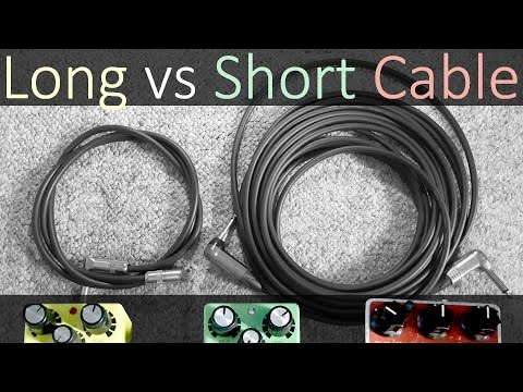 How much the length of the guitar cable affect your tone