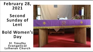 Worship Service for February 28, 2021