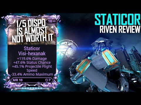 [Warframe] STATICOR AFTER ITS 20TH REWORK RIVEN MODDED thumbnail
