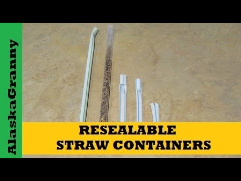 How to Make Straw Containers Waterproof Resealable- DIY Survival Gear