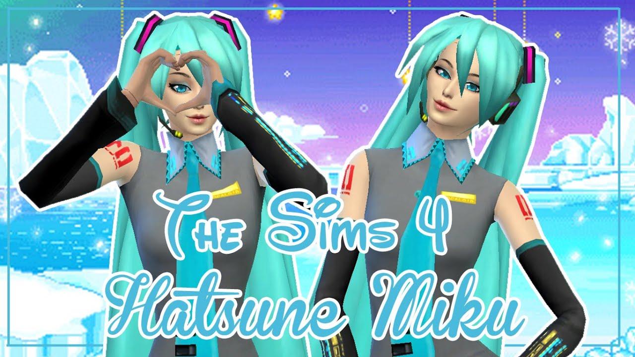 The Sims 4 Create A Sim Hatsune Miku Youtube