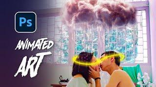 Rain Animation in Photoshop! - Create a Viral Photoshop Animation