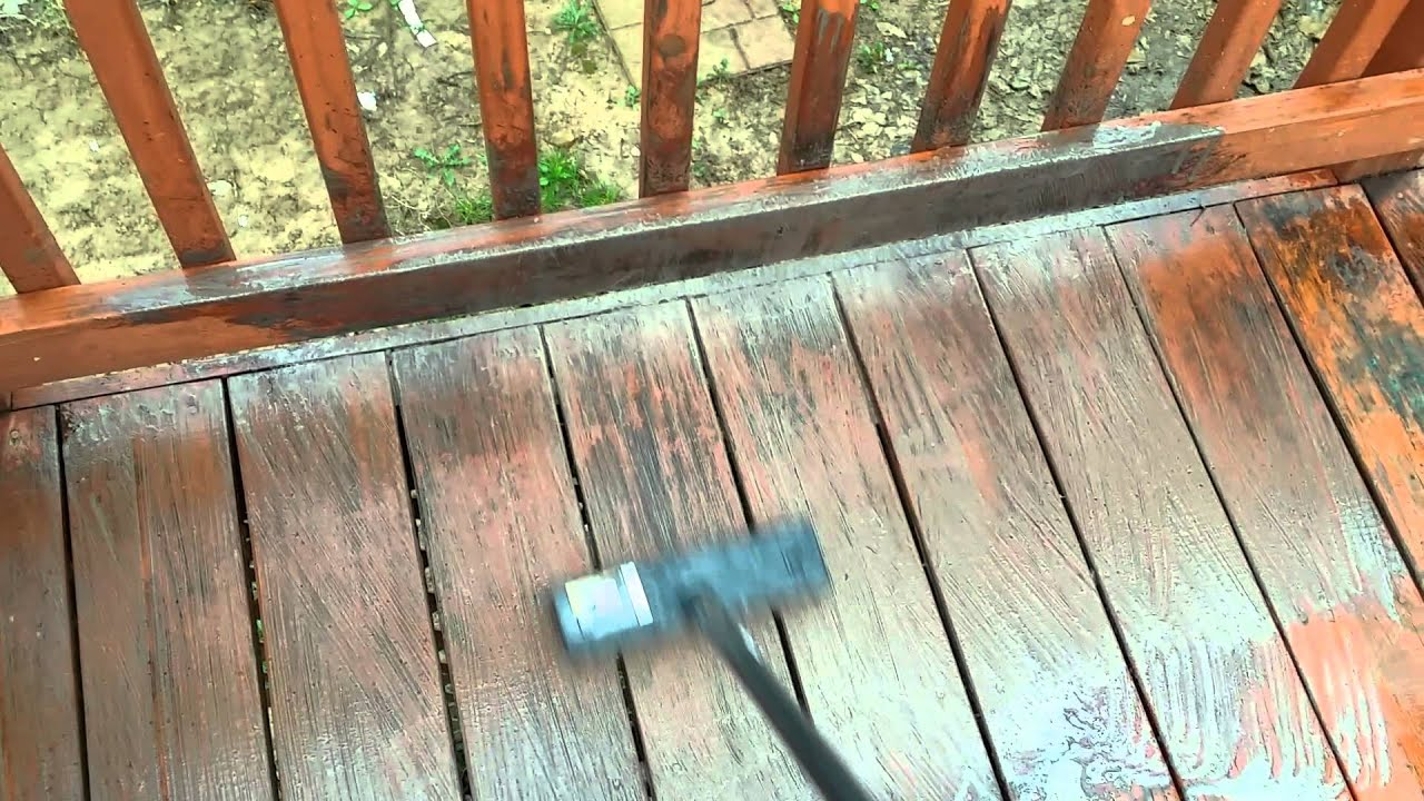 Grease removal from a wooden deck
