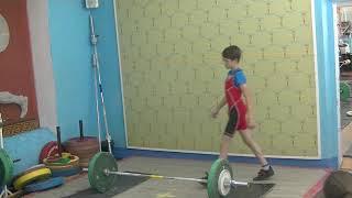 Шумихин Артур, вк 37 кг, 13 лет Толчок 50 кг Установлен второй рекорд г  Красноуральск!