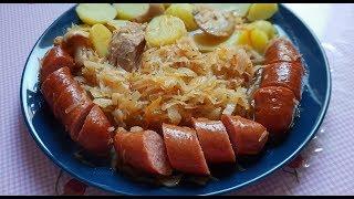 Бигос польский с грибами и квашеной капустой