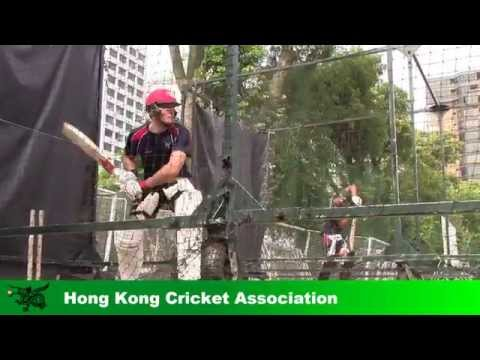 Jamie Atkinson batting in the nets