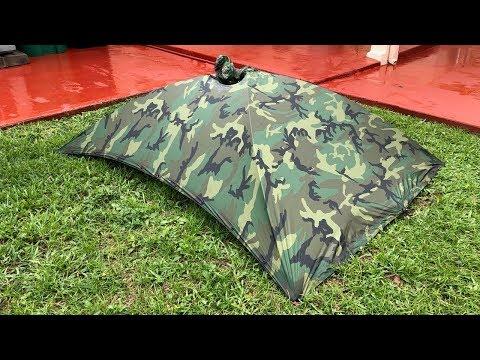The Alpha Tent Poncho In Heavy Rain