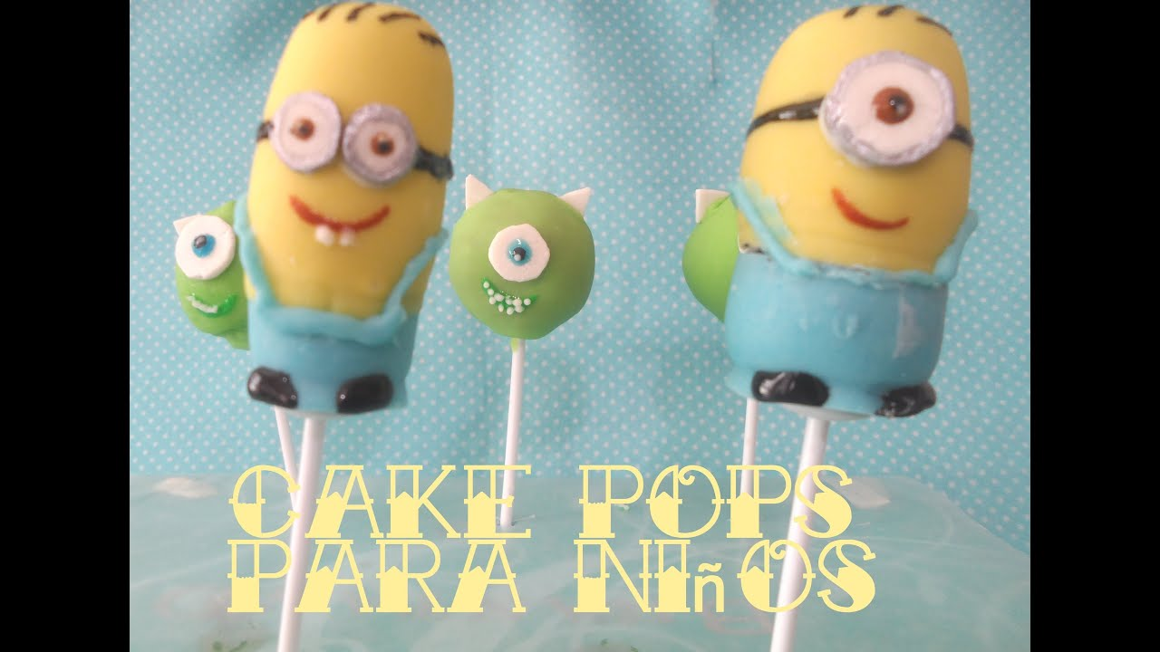 Cake pops de Minions y Monsters Inc YouTube