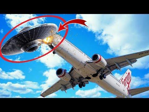 НЛО Столкнулся с Пассажирским Самолетом
