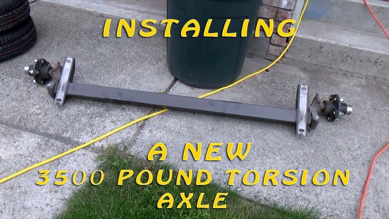 How To Build A DIY Travel Trailer - Part 84 (Install 3500 lb  Flexride  Torsion Axle)