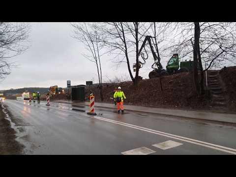 S6 ZAD 3: Tydzień 16 - Wycinka w rejonie ul Telewizyjnej i Gdyńskiej km 1+200