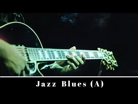 Easy Jazz Blues | Guitar Backing Jam Track (A)